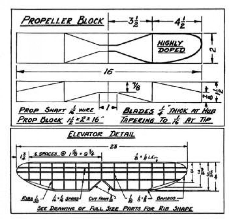 korda p4 model airplane plan