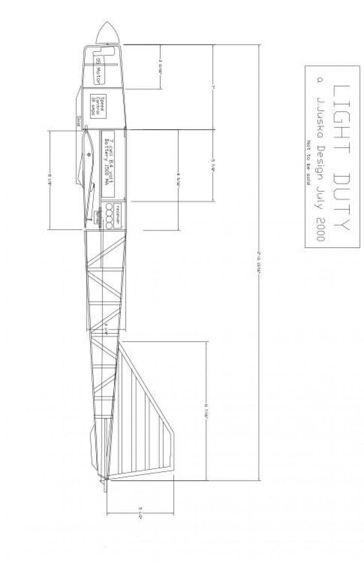 ltduty2 Model 1 model airplane plan