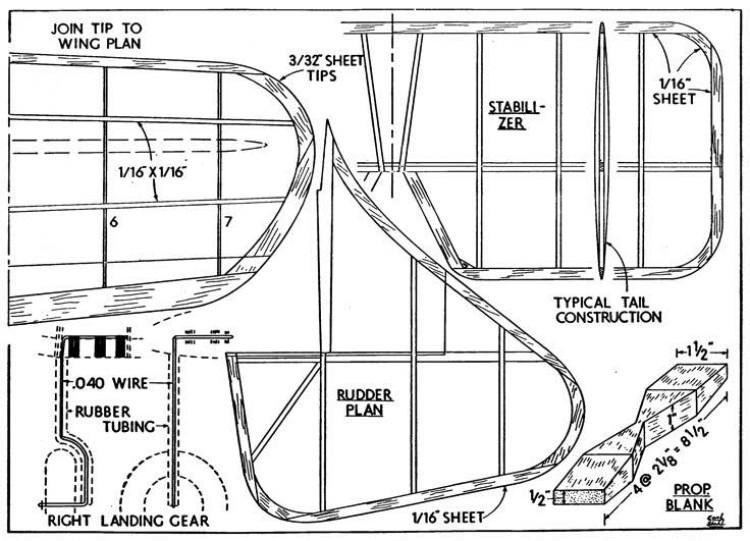 magp4 model airplane plan