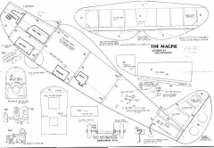 magpie sheet 1 model airplane plan