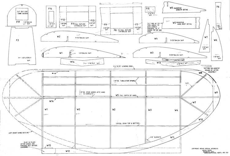 magpie sheet 2 model airplane plan
