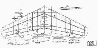 Me 163 Komet p1 model airplane plan