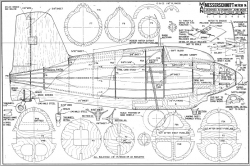 Messerchmitt Me163B model airplane plan