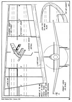 mig3 model airplane plan