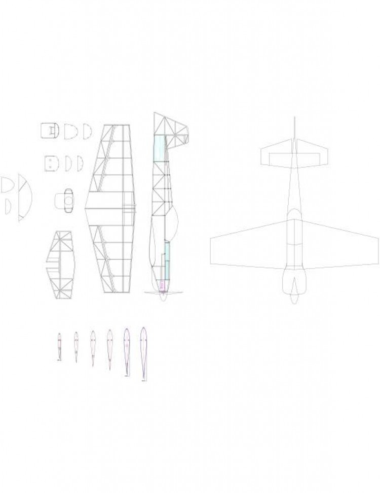 minicap Model 1 model airplane plan