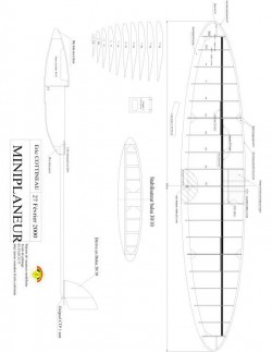 miniplaneur Model 1 model airplane plan