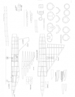 Mirage 2000 Model 1 model airplane plan