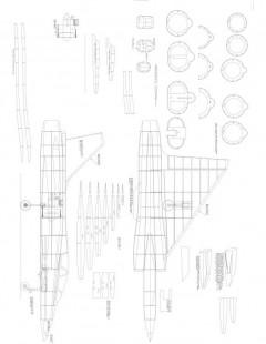 Mirage 2000 Model 1 model airplane plan