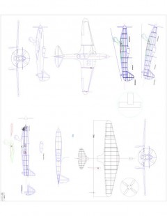 modelI224 Model 1 model airplane plan