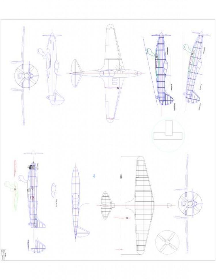 modelI224 Model 1 model airplane plan