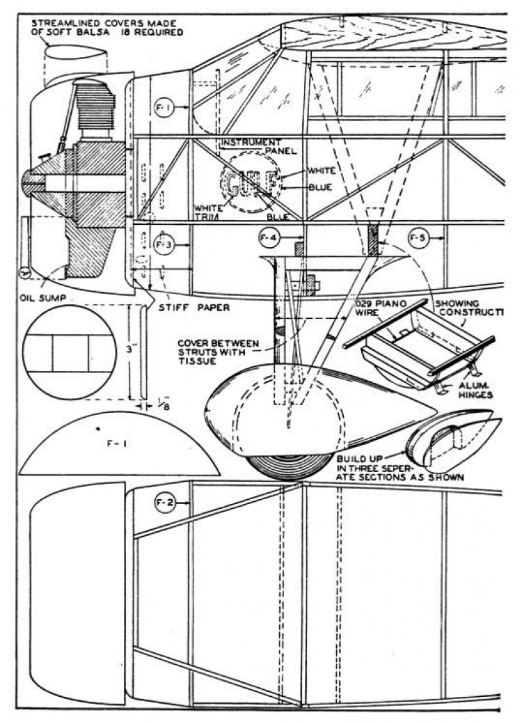 mulligan p3 model airplane plan
