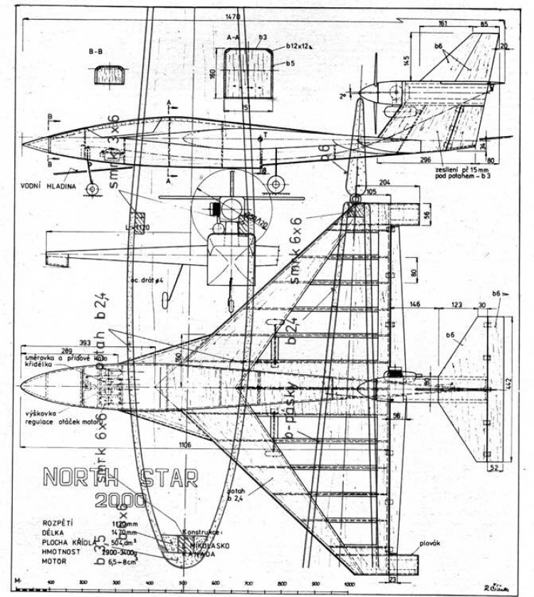 nortstar model airplane plan