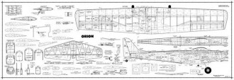 Orion model airplane plan