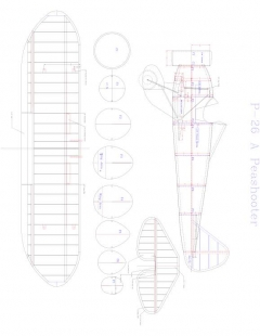 p-26a-1 Model 1 model airplane plan