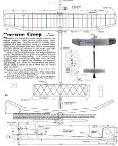 PeeWee Creep model airplane plan