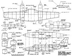 Piper Navajo Chieftain model airplane plan