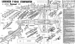 Lockheed F-104 Starfire model airplane plan