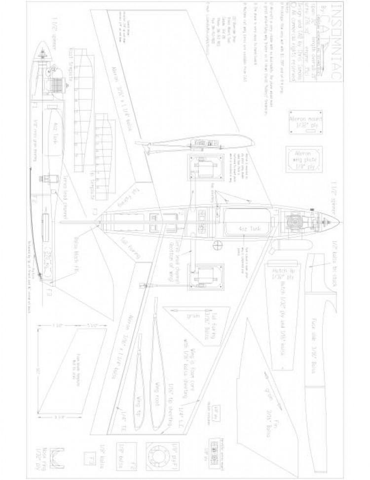 plan  Model 1 model airplane plan