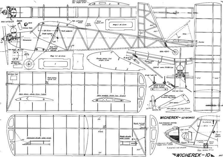 plany wicherka model airplane plan