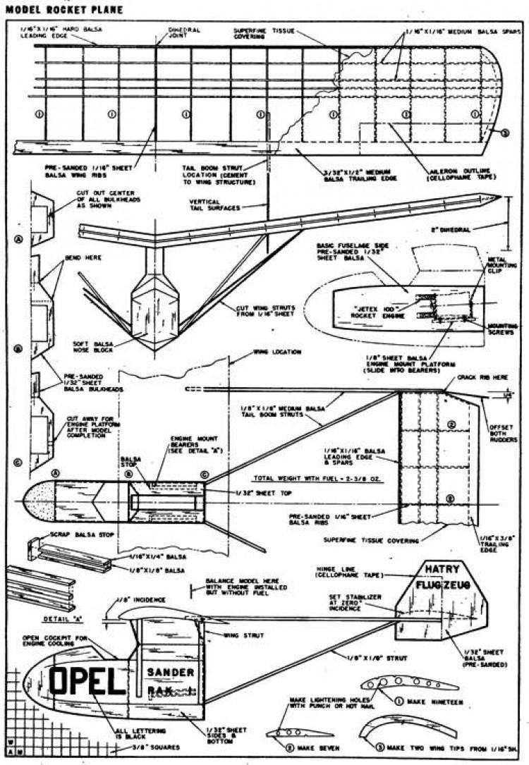 plnopelRAK3 model airplane plan
