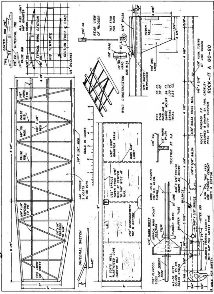 plnrocketagogo model airplane plan