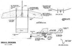 plnsmallwonder model airplane plan