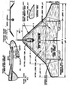 plnwing model airplane plan