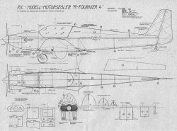 R Fournier 4 p1 model airplane plan