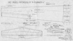 R Fournier 4 p2 model airplane plan