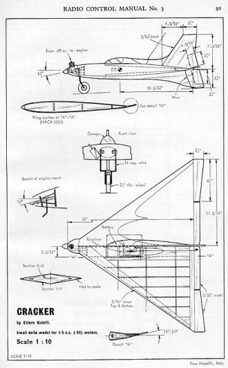 Cracker ( Delta) model airplane plan
