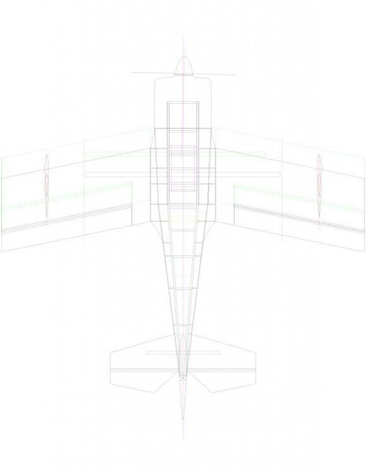 rd346b-01 Model 1 model airplane plan