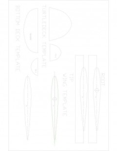 rd346b-14 Model 1 model airplane plan