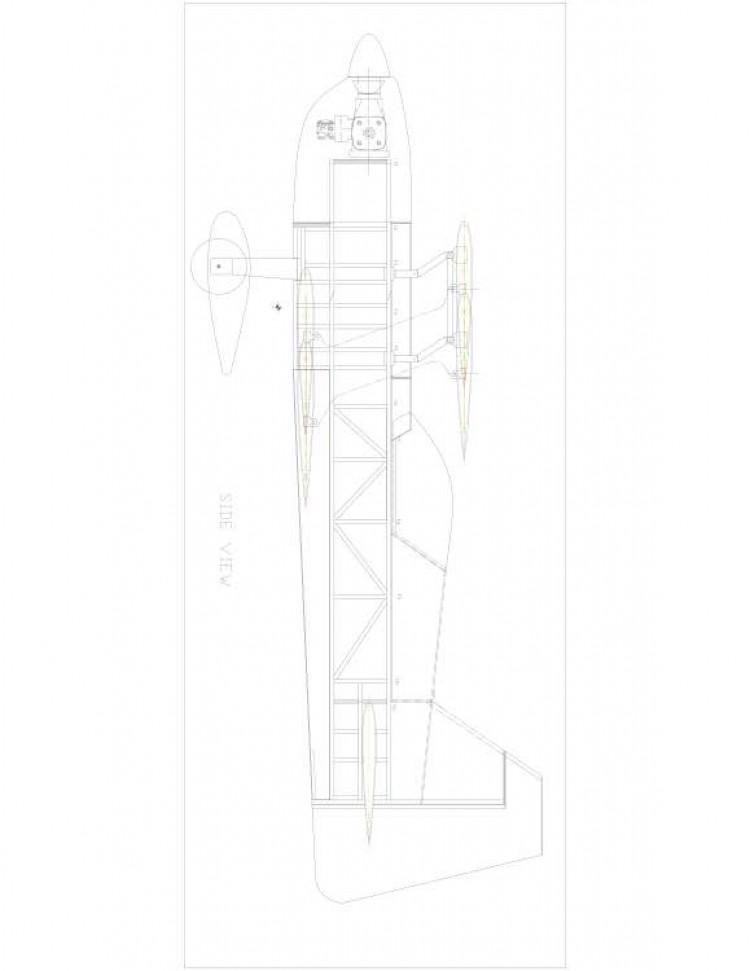 rd346b-4 Model 1 model airplane plan
