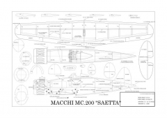saetta model airplane plan
