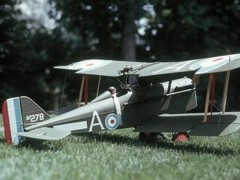 SE5a Top Flite 53in model airplane plan