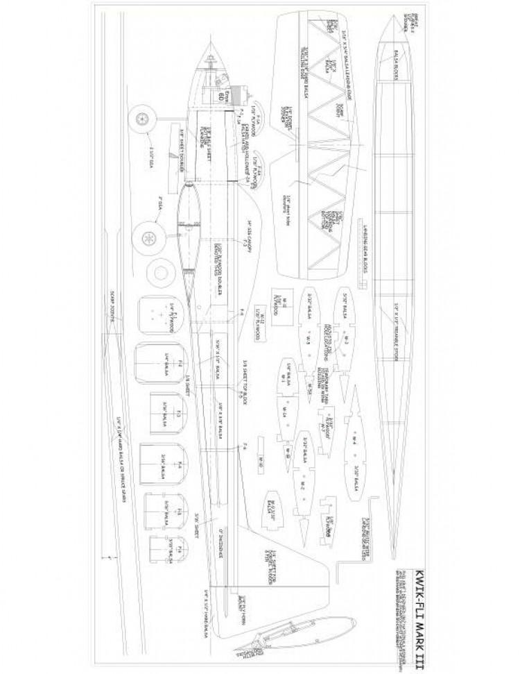 sheet 1 Model 1 model airplane plan