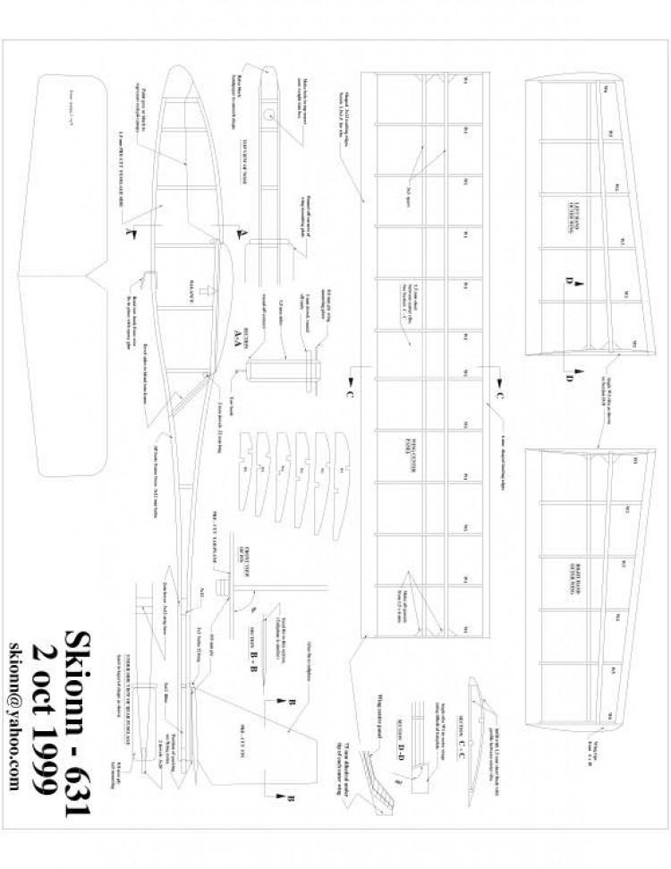 skionn-631 Model 1 model airplane plan