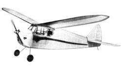Skybo Eagle 1946 FF 65in model airplane plan