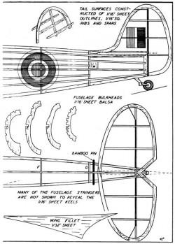 spit p3 model airplane plan