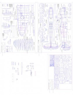 spitmk9 Model 1 model airplane plan