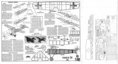 Sterling Fokker D-8 model airplane plan