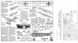 Sterling Fokker D-8 model airplane plan