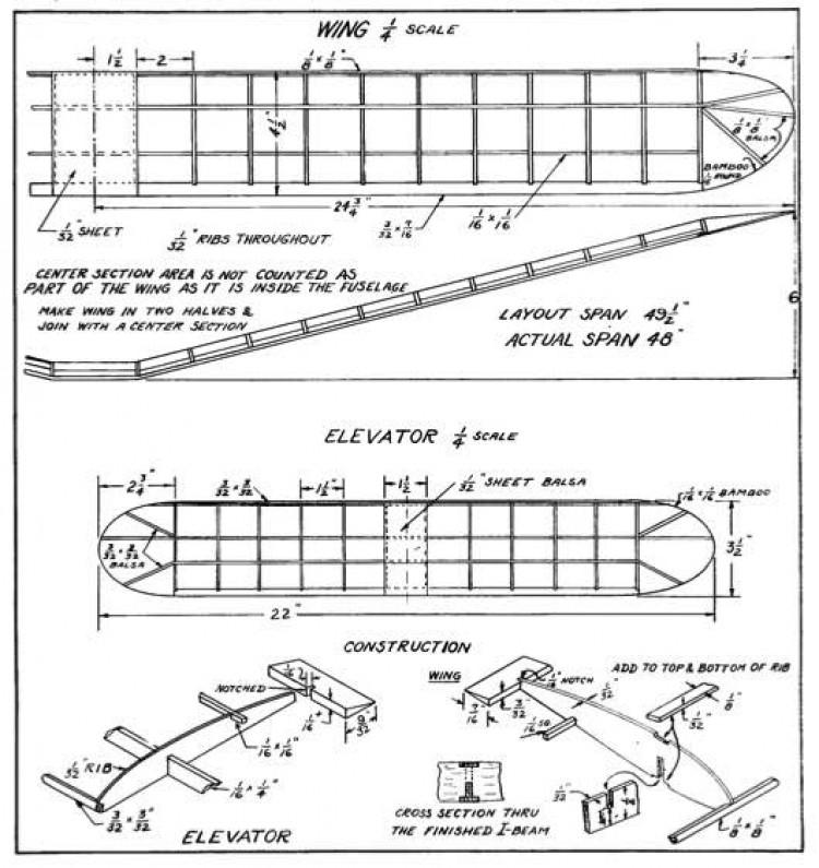 stoutp2 model airplane plan