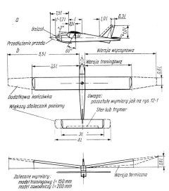 szybowiec model airplane plan