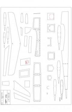 templates Model 1 model airplane plan