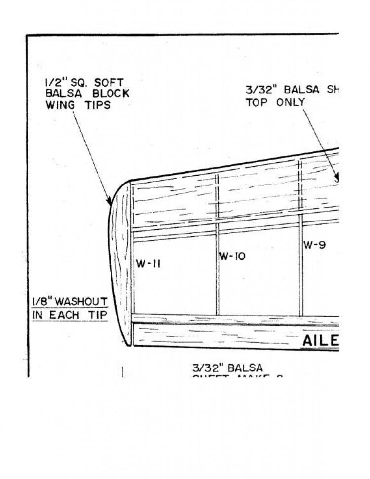 texan model airplane plan