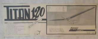 Titan 120 model airplane plan