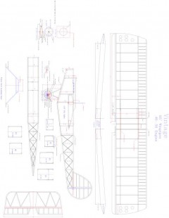vintage Model 1 model airplane plan