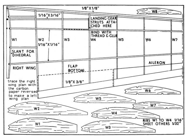 vultee 3 model airplane plan