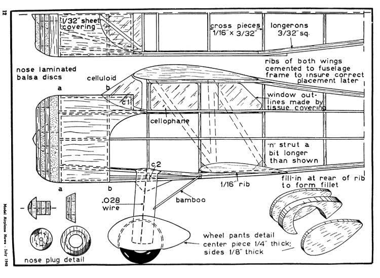 waco 4 model airplane plan
